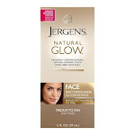 Jergens Natural Glow Healthy Complexion Daily Facial Moisturizer Sunscreen SPF 20 Medium To Tan, 2 Oz