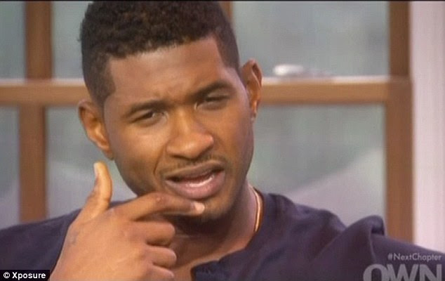 Wanted out: Usher says he lost himself towards the end of his union with Tameka