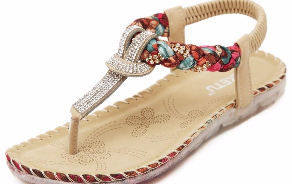 09c366f686 Comprar Apricot Preto Cor Mulheres Planas Com Sandálias Sapatos De Cristal  Elástico PU Casuais Frete Grátis Baratas Online Preço