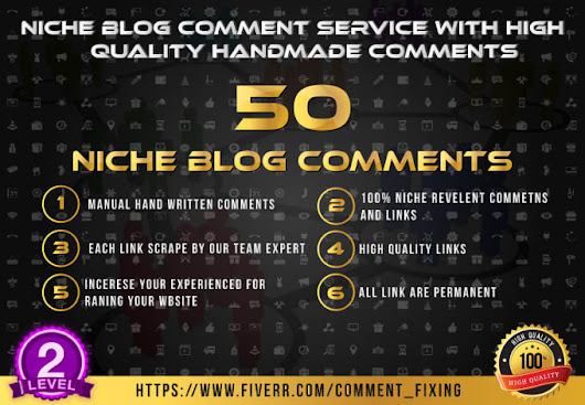 I will rank your site with my 50 niche blog comments