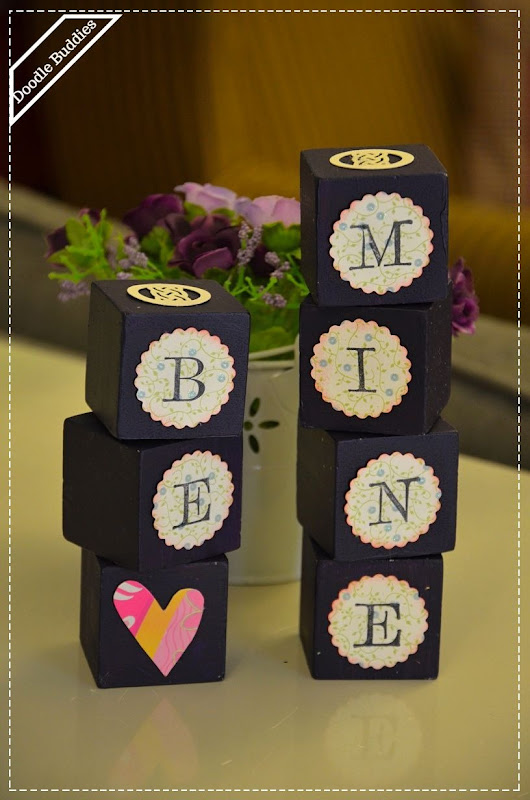 How to Upcycle Wooden Puzzle Blocks into Reversible Signs | Fluster Buster