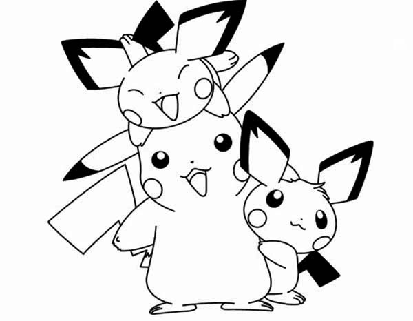 Pikachu And Pichu Coloring Pages At Getdrawingscom Free For