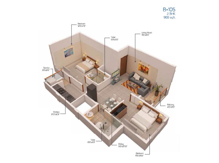900 Sq Ft House Plans 3 Bedroom Indian Style