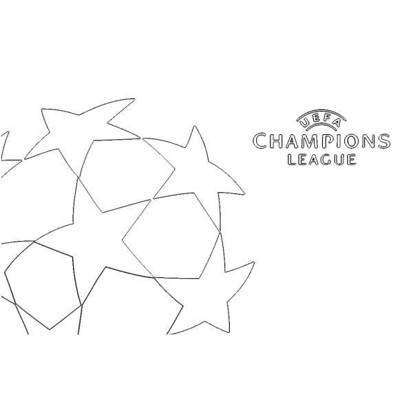Disegno Di Logo Uefa Champions League Da Colorare Per Bambini