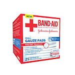 Band Aid First Aid Gauze Pads, Small, 2 Inch X 2 Inch - 10 Ea
