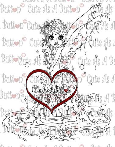 IMG00175 Water Fairy Digital Digi Stamp