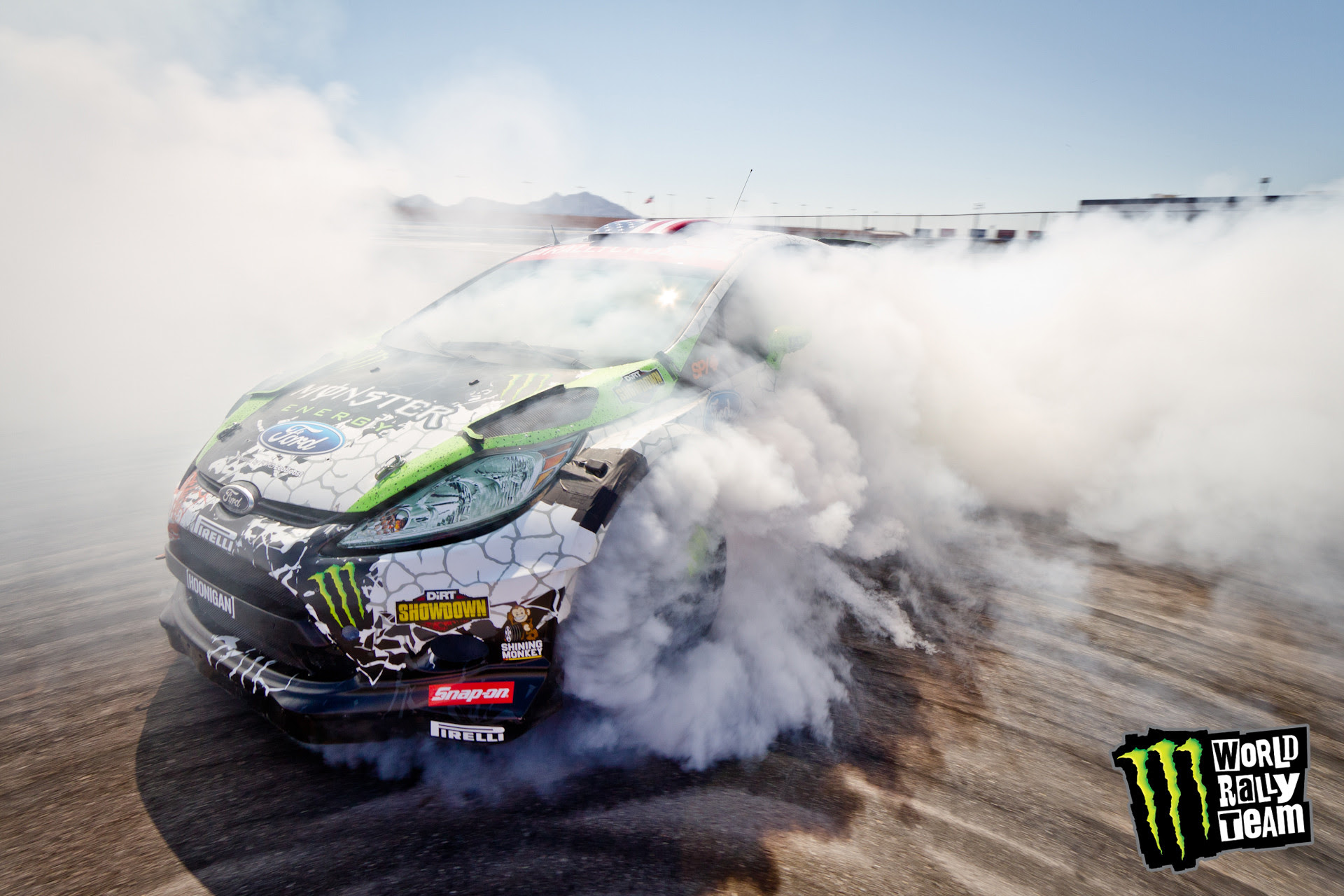 Ken Block Drifting In His Ford Fiesta For His Las Vegas Tire Test