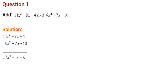 Algebraic expressions and identities NCERT extra questions for class-8 maths