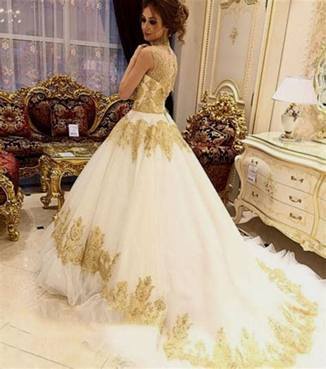 Ivory and gold wedding dress   Find the best dress