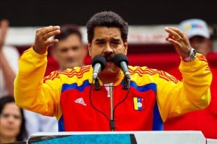 Fotografía tomada el pasado 11 de septiembre en la que se registró al presidente de Venezuela, Nicolás Maduro, quien dio 48 horas para abandonar el país a tres diplomáticos norteamericanos. EFE/Archivo