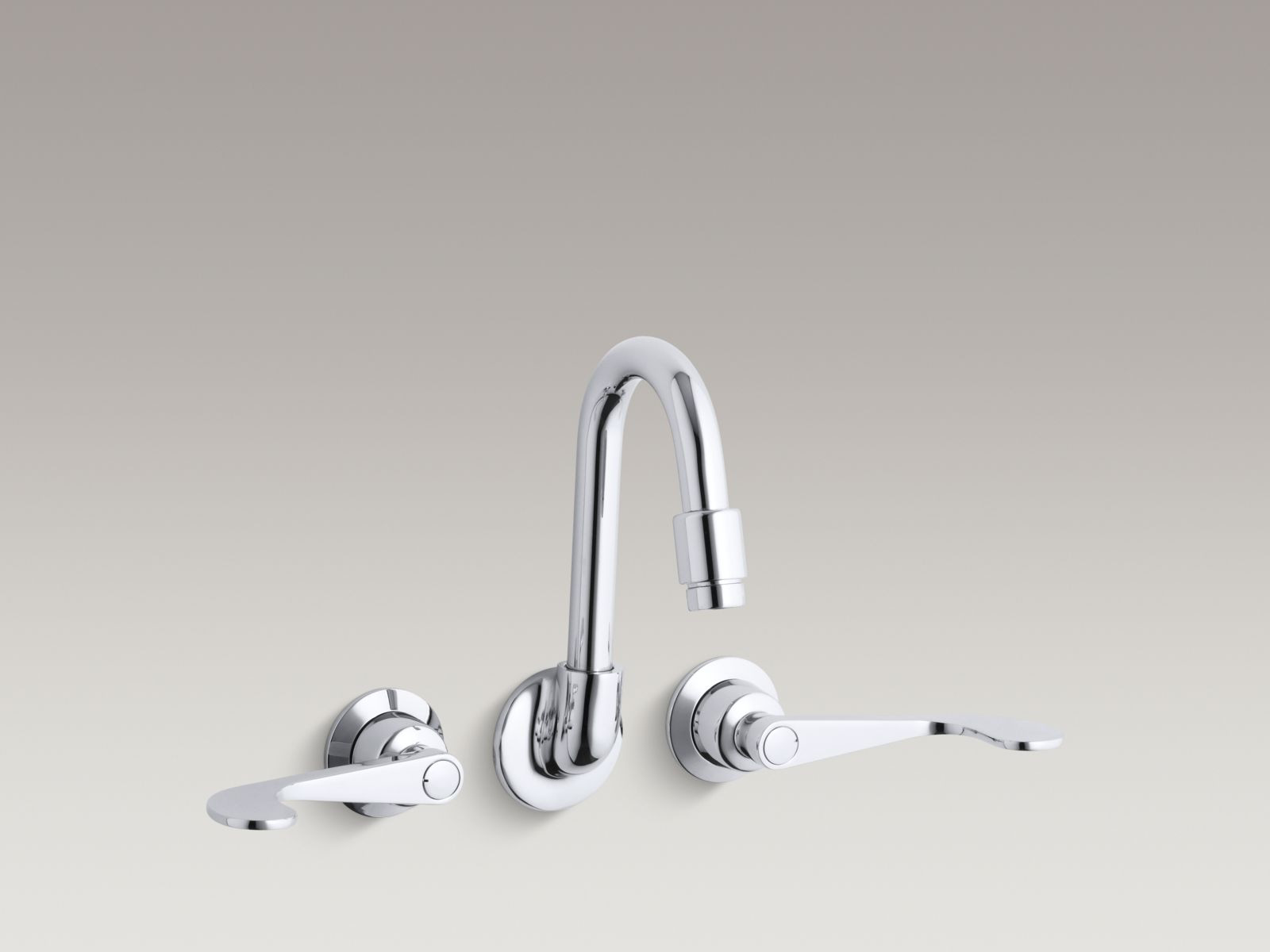 Kohler K 7302 5a Cp Triton Shelf Back Double Wristblade Lever Handle Sink Faucet Polished Chrome