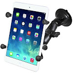 """RAM Universal X-Grip Cradle for 7"""" Tablets with Suction Cup Mount Kit by PilotMall.com"""