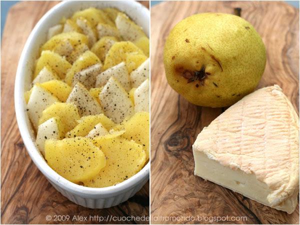 Gratin di patate, pere e Munster