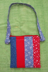 back of zippered purse