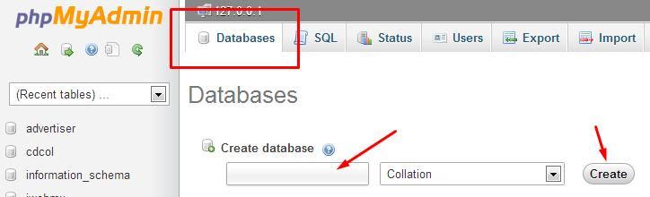 buat database di xampp, membuat database