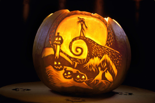 "The Nightmare Before Christmas Pumpkin by Saphrian ""My first Halloween Pumpkin. Inspiration from ""The Nightmare Before Christmas"" by Tim Burton."""