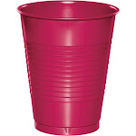 Creative Converting 28177081 20 Count Touch of Color Plastic Cups, 16 oz, Hot Magenta