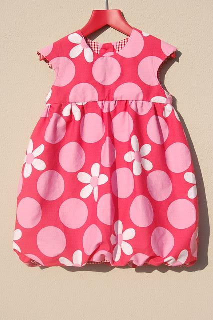 Red Spotty Bubble dress