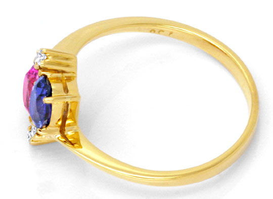 Original-Foto 3, DIAMANTRING SPITZEN-RUBIN, SUPER-SAFIR, 18K GOLD LUXUS!, S6730
