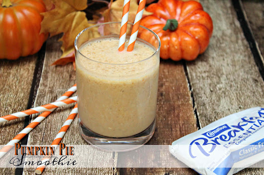 Grab my Pumpkin Pie Breakfast Smoothie for on the go