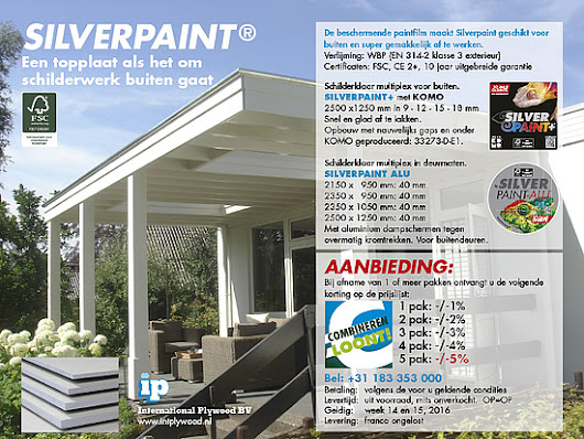 Silverpaint+ en Silverpaint ALU - International Plywood