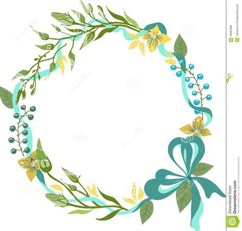 Color Floral Frame For Wedding Invitation Design Stock