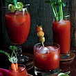 Sriracha Bloody Mary & having fun with garnishes