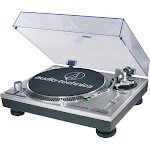 Audio-Technica AT-LP120 Direct-Drive Professional Turntable - 3-Speed - Manual Operation - USB - Silver