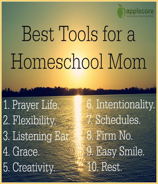 Best Tools for a Homeschool Mom | Applecore Blog
