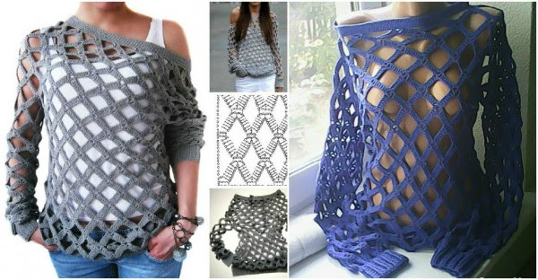 Mesh Sweater Crochet Pattern