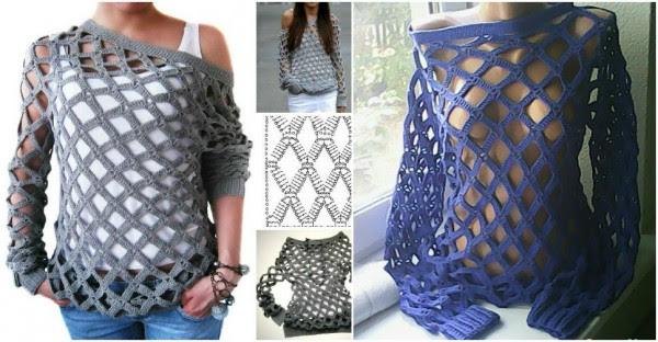 Mesh Sweater Crochet Pattern