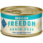 Blue Buffalo Freedom Grain-Free Indoor Canned Cat Food, Fish - 24 cans, 3 oz each