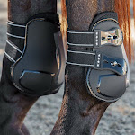 PROFESSIONAL CHOICE PRO OPEN REAR HORSE TENDON BOOTS W/ TPU FASTENERS BLACK