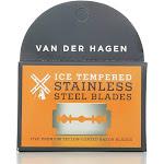 Van Der Hagen Razor Blades, Stainless Steel, Double Edge - 5 razor blades