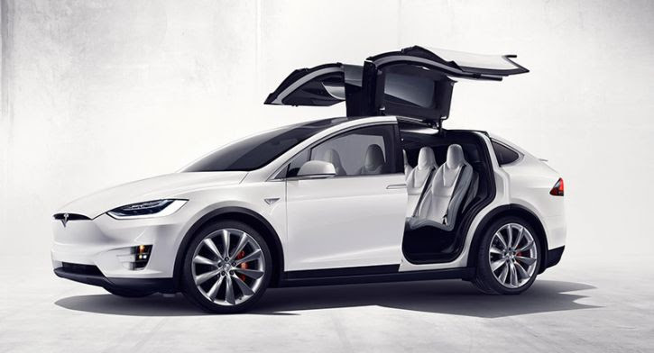 Image result for white Tesla Model X official pictures