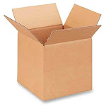 """8""""L x 8""""W x 8""""H Small Box for Moving, Shipping or Storing Items, 100% Recyclable, Brown - 10 Boxes"""