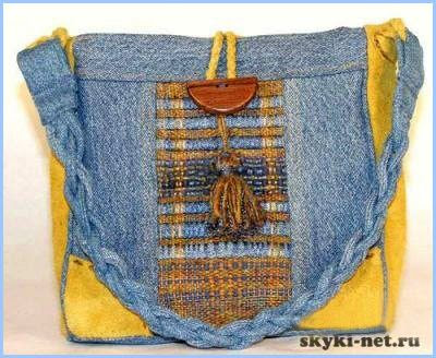 handmade denim bag - picture only