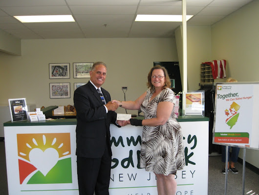 Masonic Club Announces Grant to Community FoodBank of New Jersey