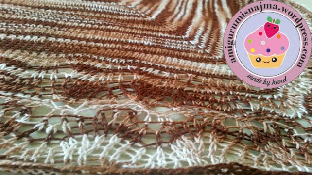 ishbel shawl knitting chal