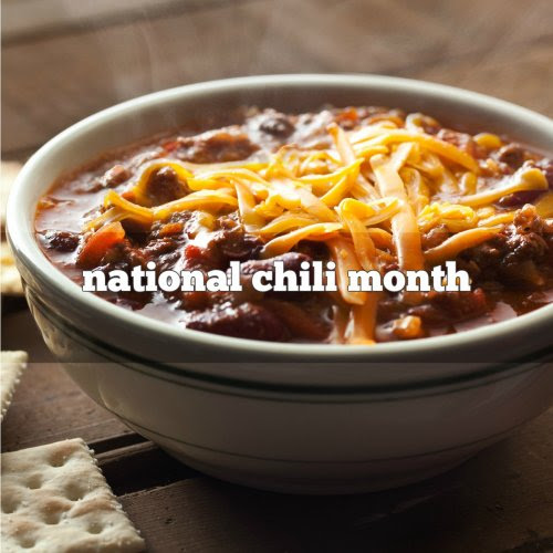 October is National Chili Month!