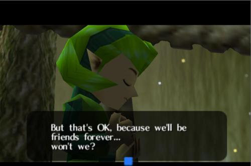 And With That Saria Put Link In The Friend Zone Forever Zelda