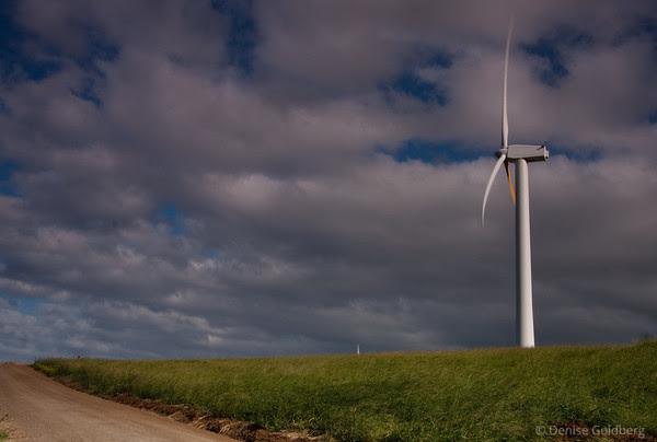 windmills along the west coast of the Big Island of Hawaii