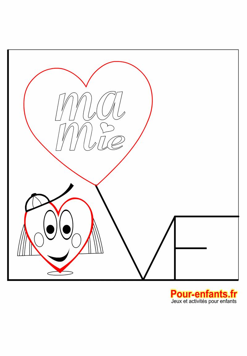 Fête Des Mamies Coloriage Love à Imprimer Amour Mamie Mémé Mémère