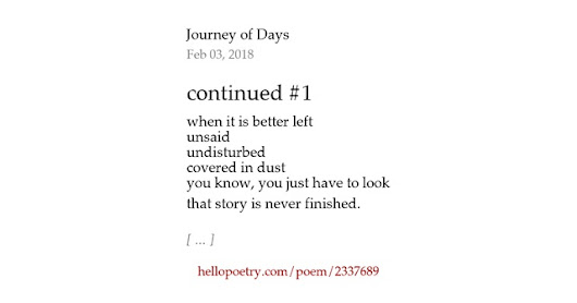 continued #1 by Journey of Days