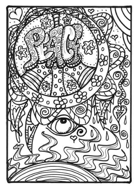 hippie folk art coloring book excerpt 4 1