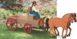 Buckboard Horse Woodworking Plan - fee plans from WoodworkersWorkshop® Online Store - horses,buckboards,wagons,western,planters,full sized patterns,woodworking plans,woodworkers projects,blueprints,drawings,blueprints,how-to-build,MeiselWoodHobby