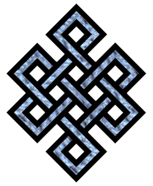 English: Tibetan endless knot Nederlands: Tibe...