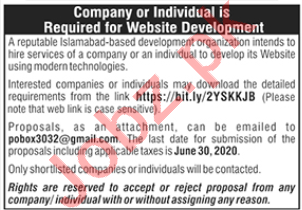 Web Developer & Software Engineer Jobs 2020 in Islamabad