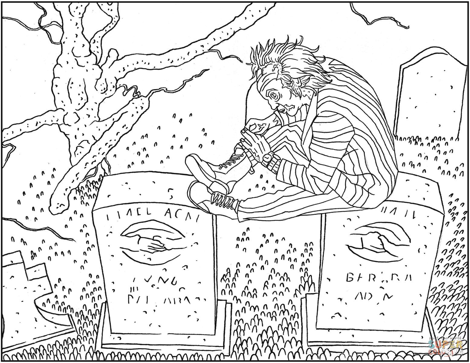 Disegno Di Beetlejuice Spiritello Porcello Da Colorare Disegni