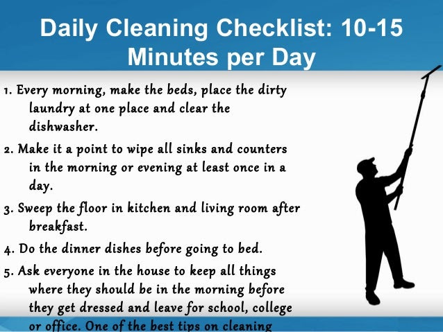 How to prepare a daily and weekly house cleaning schedule